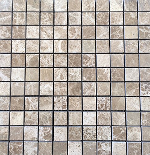 Brown Mosaic Tile Flooring - Emperador Light Brown 1x1 Polished Premium Marble Mosaic Tile, Shower Walls, Flooring, Bathroom