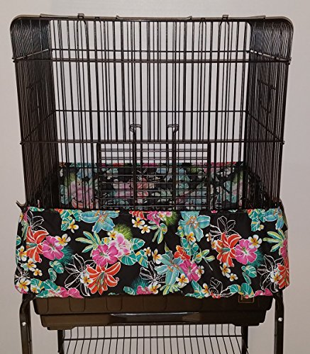 Penn Seed Seed Guard and Catcher Bird Cage Skirt - Hibiscus Lily (Extra Large (56''-112'' Cage Circumferenc) by Penn Seed