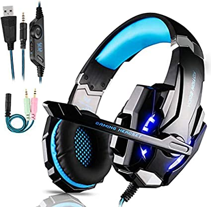 Cuffie Gaming Per Ps4 Cuffie Da Gaming Con Microfono E Bass Stereo Cuffie Da Gioco Con 3 5mm Jack Led E Controllo Volume Gaming Headset Per Ps4 Xbox One Switch Pc Mac Laptop Tablet Blu Amazon It Informatica