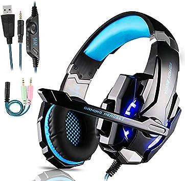 Auriculares Gaming PS4,Cascos Gaming de Mac Estéreo con Micrófono ...