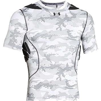 Under Armour Hombre Gameday Armour Camuflaje de Manga Corta Camiseta Interior térmica para Mujer - 00-RAR21C-FR, XL, Blanco/Negro: Amazon.es: Deportes y ...