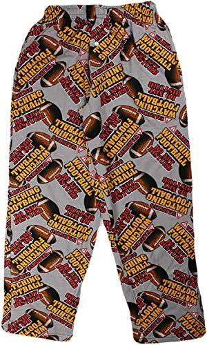 Fun Boxers Mens Sports Fun Prints Pajama & Lounge Pants, Warning Watching Football, Large