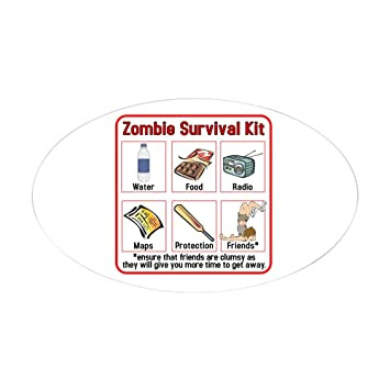 Amazon Com Cafepress Zombie Survival Kit Oval Sticker Oval