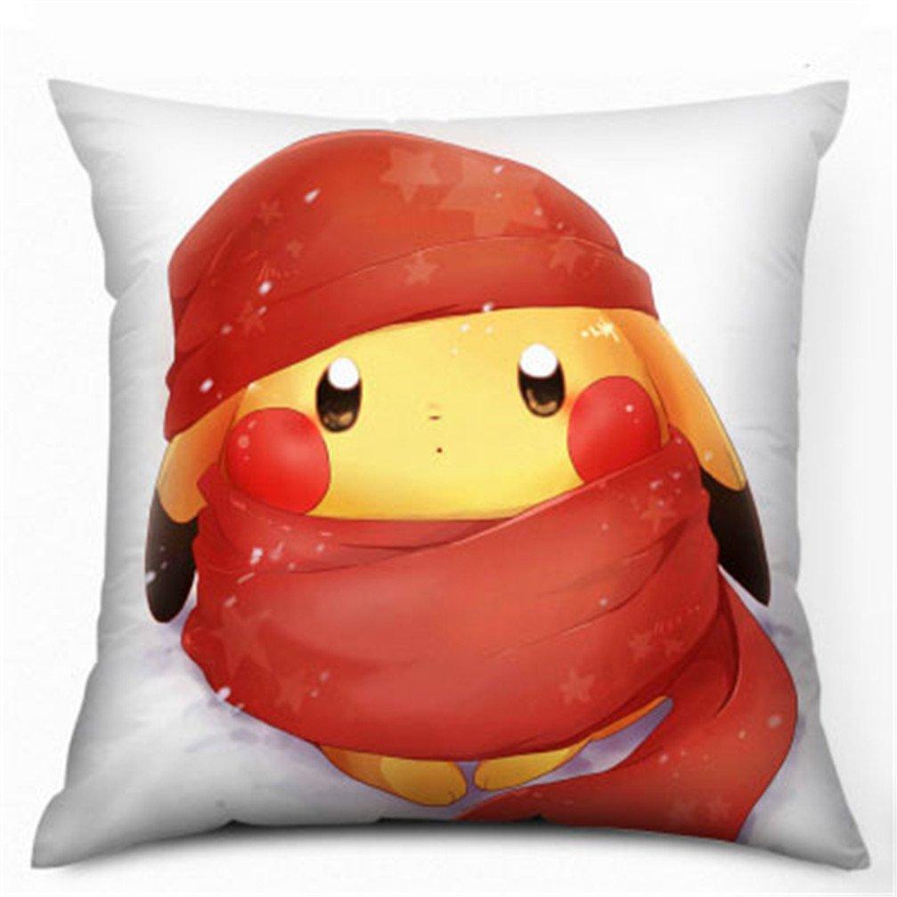 35 x 35 cm Pokemon Pikachu franela impreso almohada cojín ...