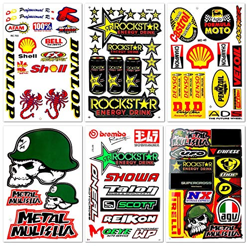 Kits Mx Sticker - Motorcycles Extreme Racing Graphics Lot 6 Vinyl Stickers Decals D6066