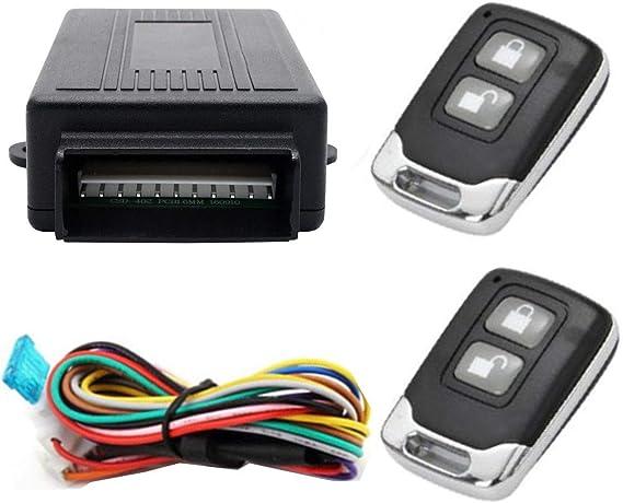 Maso Auto Alarmanlage Universal Auto Fernbedienung Zentralverriegelungs Kit Schlüsselloses Einstiegs Sicherheitssystem Mit 2 Anhängern Auto