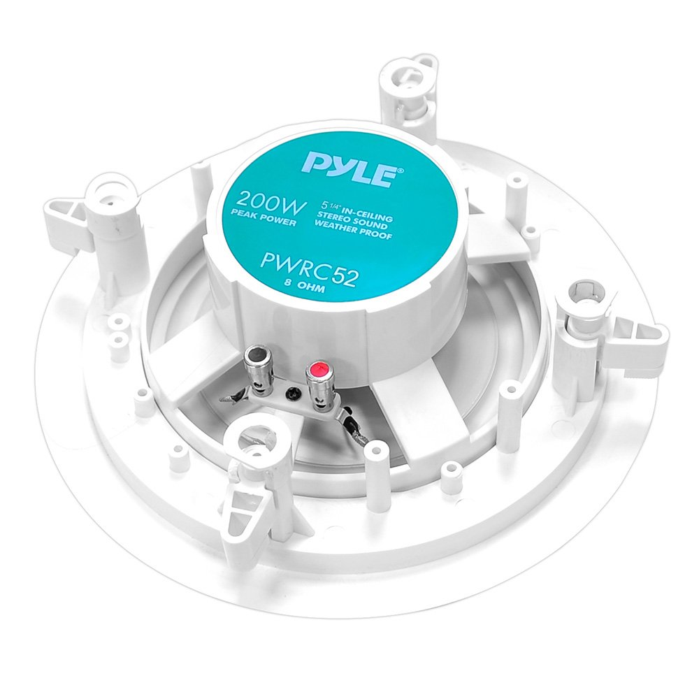 Pyle Home PWRC52 5.25-Inch Weather Proof 2-Way In-Ceiling / In-Wall ...