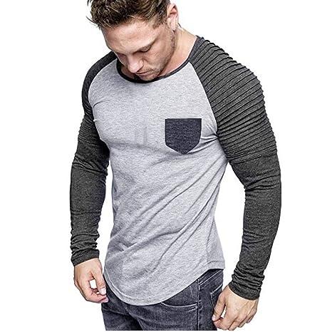 ღLILICATღ Camisa de Vestir para Hombre Camisa de Empalme ...
