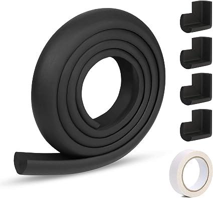 Noir HAPPY CHLEA/® Protection dAngles et Rebords pour B/éb/és 1 Bloque-Porte et 4 Bloque-Tiroirs Couverture Totale de 6,4 M avec Prot/ège-Angles et 8 Prot/ège Coin Kit de S/écurit/é Enfants