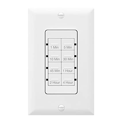 TOPGREENER TGT08-4 Wall Countdown Timer Switch, 1-5-10-30-45 min, 1 ...