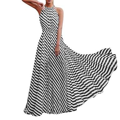 7114cab118f12 Sexy Women Maxi Dress Halter Neck Sleeveless Summer Beach Sundress ...
