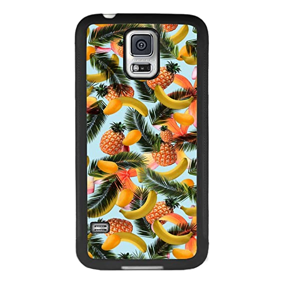 new arrival 4efef 7b8d7 Amazon.com: Samsung Galaxy S5 Banana Pineapple Mango Phone Case ...