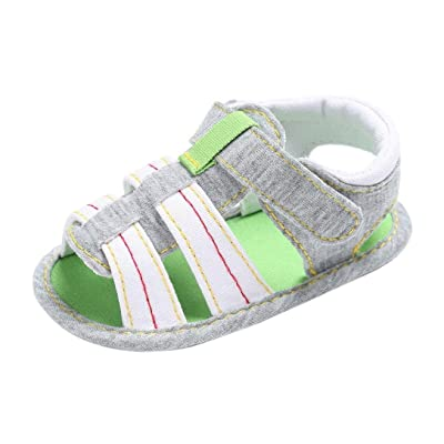 Baby Toddler Cute Crib Shoes, Hunzed Baby Comfort Canvas Infant Kids Girl boys Sole Crib Sandals Shoes First Walkers Kid Shoes