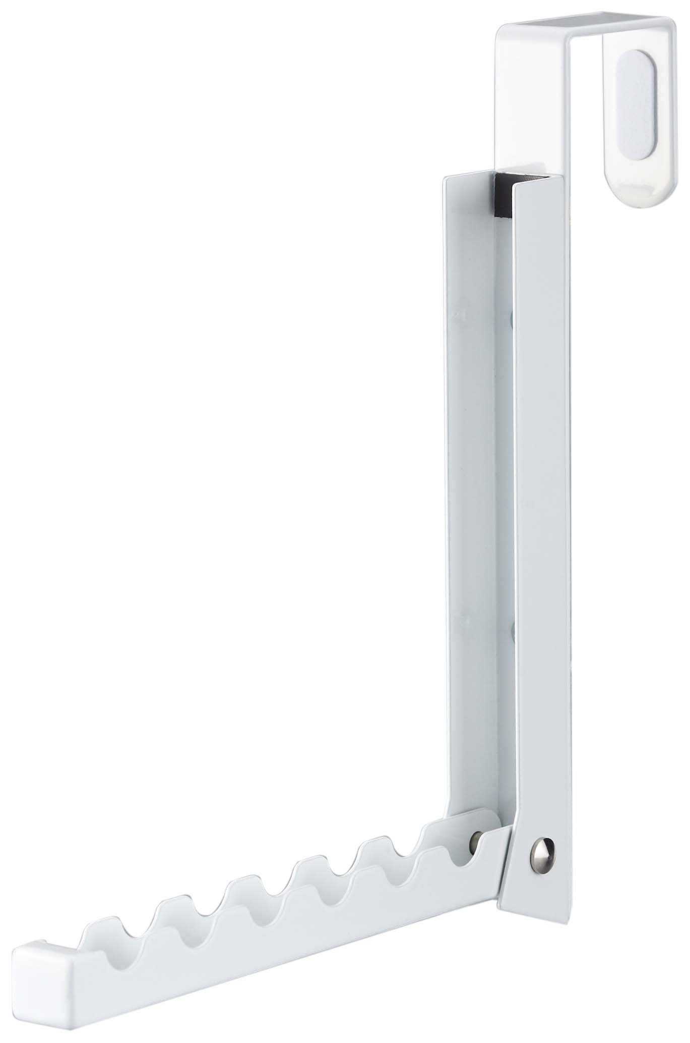 Over The Door 6 Hooks Folding Organizer in White Finish - 8'' L