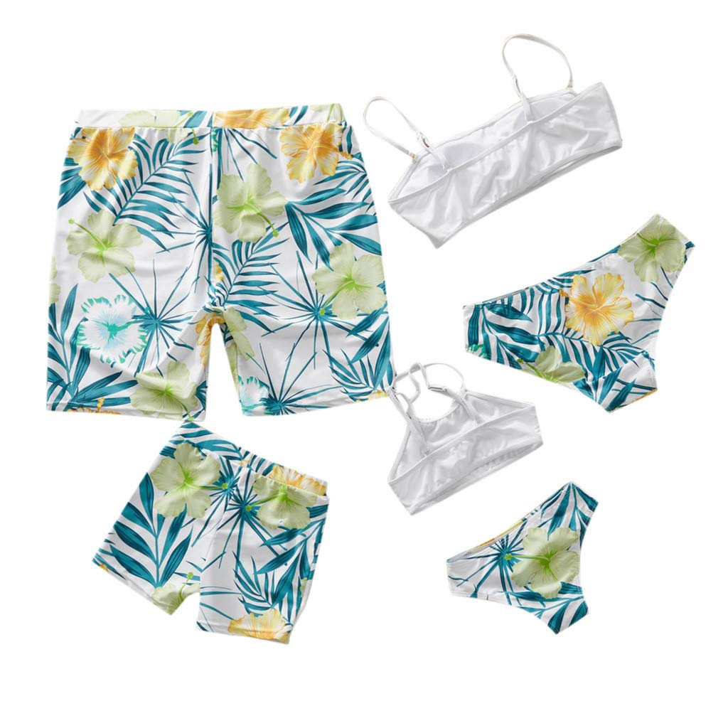Kehen Daddy Mommy and Me Family Matching Swimsuit Parent-Child Summer Outfit Swimwear