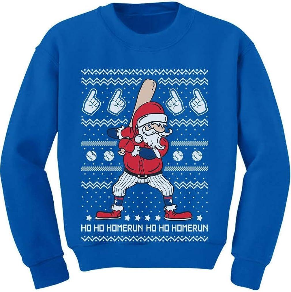 Tstars Ho Ho Homerun Santa Claus Baseball Player Ugly Christmas Toddler//Kids Sweatshirt