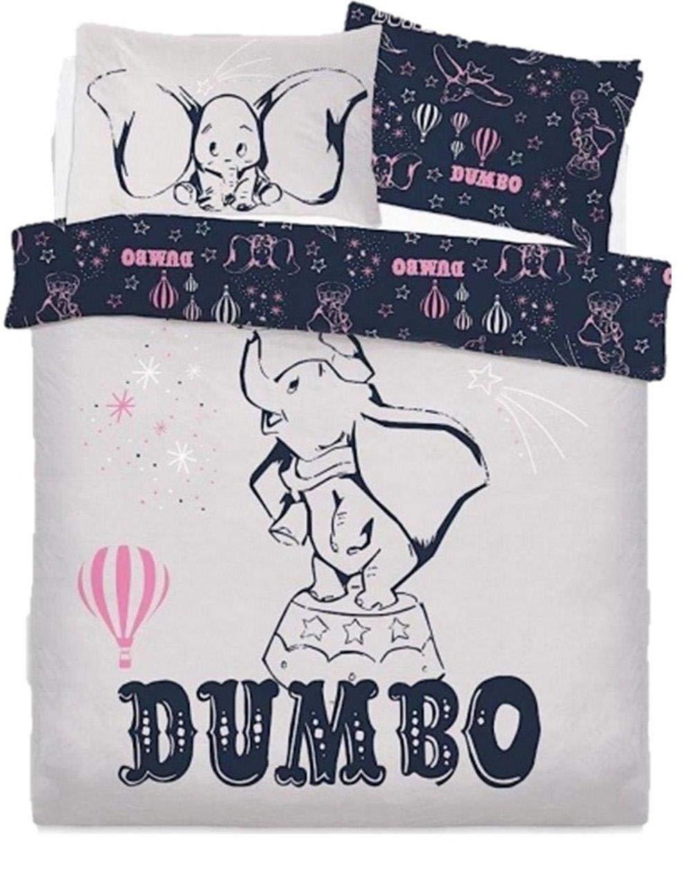 Disney Dumbo Presenting Kids Panel Double/Full Bed Duvet Quilt Cover Set