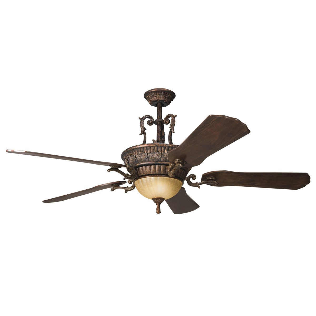 Wood Ceiling Fan With Light Part - 38: Amazon.com