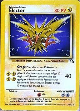 Carte Pokémon 3062 élector 80 Pv Série Fossile Neuf Fr