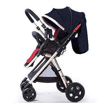 GFGF & Baby Cochecito de bebé Carrito de bebé Ultraligero Cochecito Plegable y Ligero Paraguas Coche