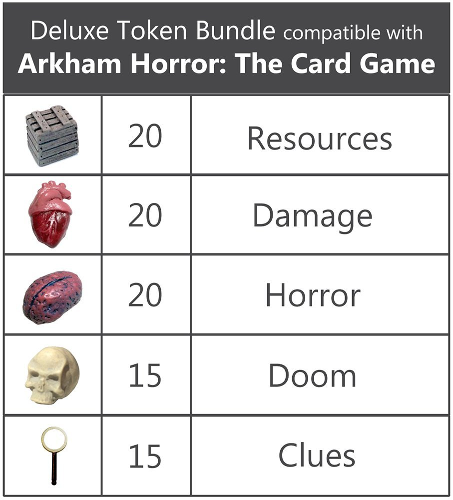 Deluxe Token Bundle Compatible with Arkham Horror: The Card Game by Top Shelf Gamer