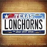 Texas Longhorns NCAA basketball Texas College Aluminum Vanity License Plate