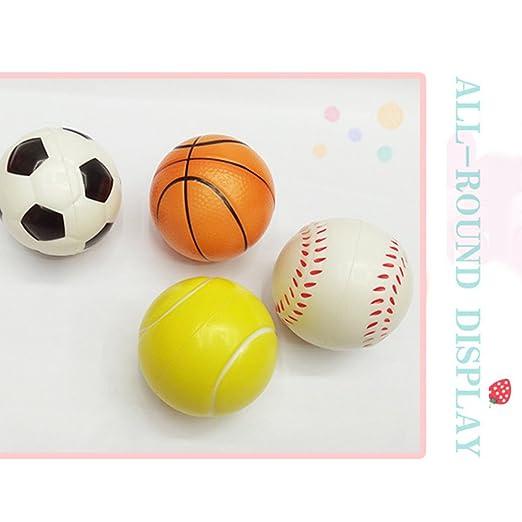 Faironly 12 Pelotas de Tenis de Baloncesto de fútbol de ...