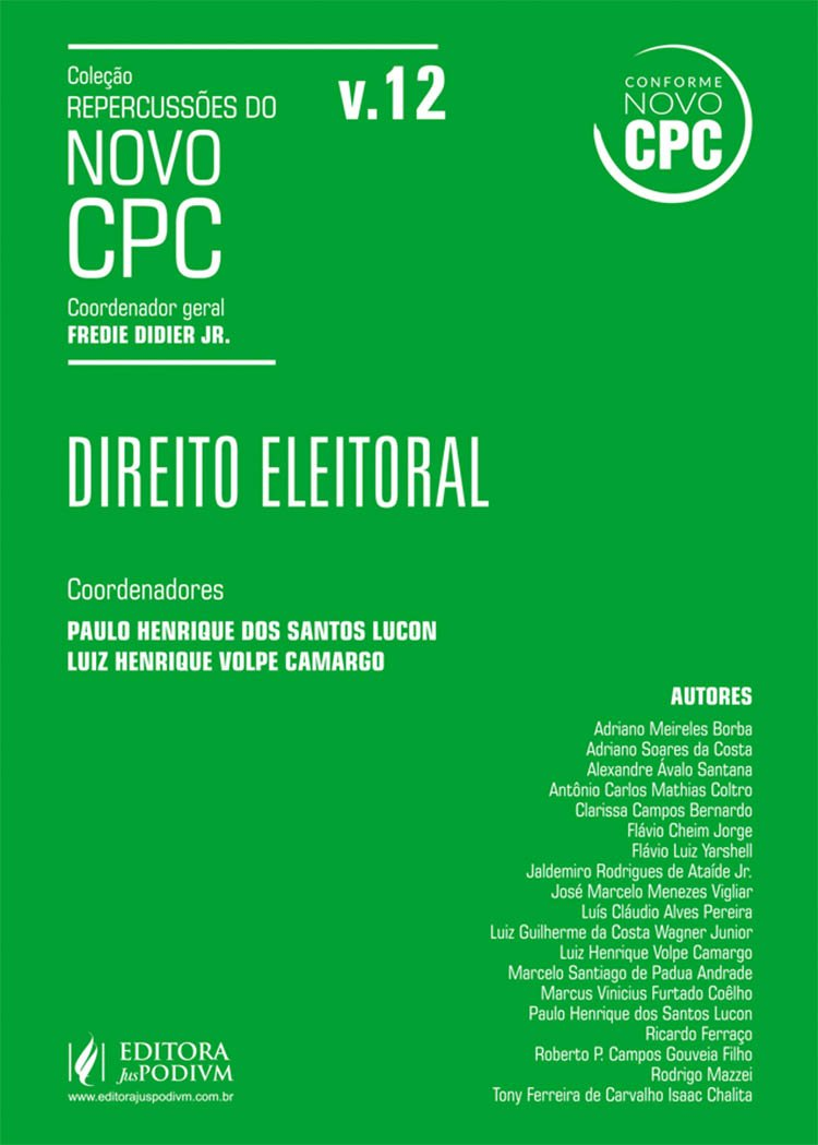 Download Direito Eleitoral - Vol.12 - Colecao Repercussoes do Novo Cpc pdf epub