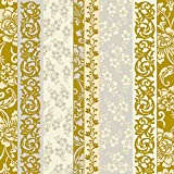 #6: Dining Collection Decorative Paper Cocktail Napkins (Rose Gold Scrolls)