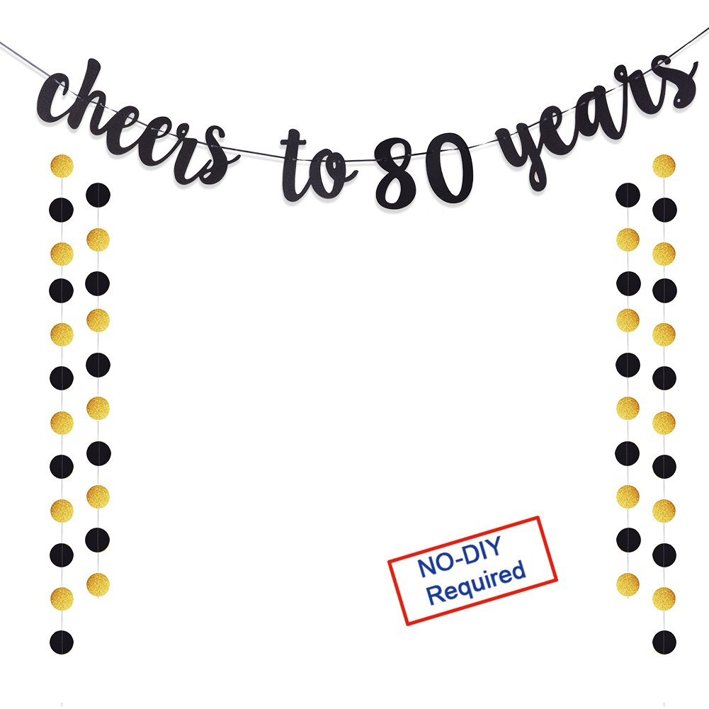 Amazon.com: 80th Birthday Decorations Party Supplies Gift