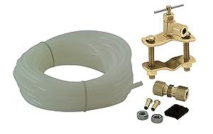 "Universal Polyethylene Tubing Ice Maker / Humidifier Installation Kit, ¼"" X 25' Easy to Install,"