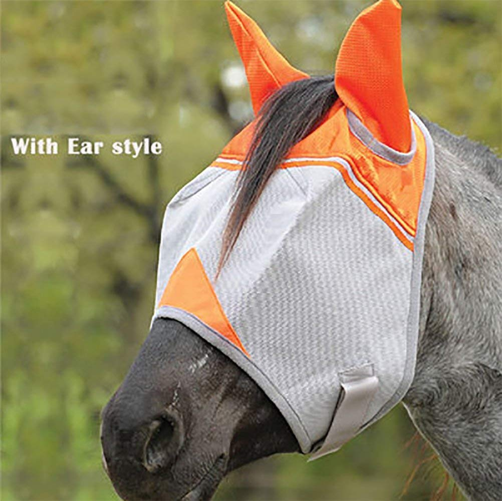 IF.HLMF Long Nose Fly Mask with Ears