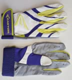 1 pr Easton Synergy II Womens Small Softball Batting Gloves White/ Purple/ Optic