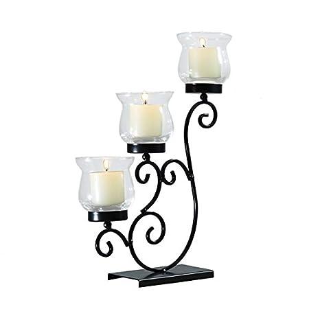 Amazon Com Adeco Hd0042 Decorative Iron Vertical Table Standing