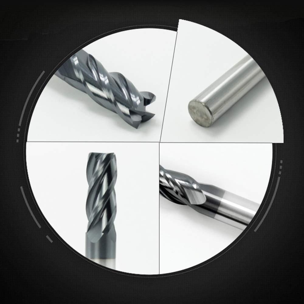 CNC Tour Fraise Embout de foret 4Flutes Lacier au tungst/ène Fraise en carbure pour Bois aluminium cuivre,10x25mm