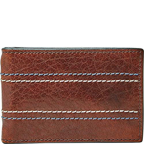 Fossil Men's Reese RFID Money Clip Bifold Accessory, -brown, (Fossil Money Clips)