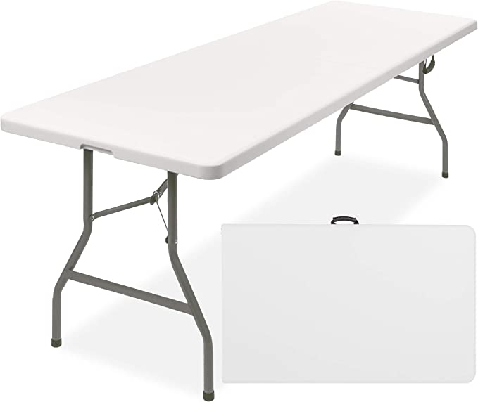32inch Round Folding Table Outdoor Folding Utility Table White Concise Patio Dining Furniture Space Saving Furnitures