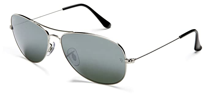 7fc1e74e91 Image Unavailable. Image not available for. Colour  Ray-Ban Men s Gradient Cockpit  RB3362-003 32-59 Silver Aviator Sunglasses
