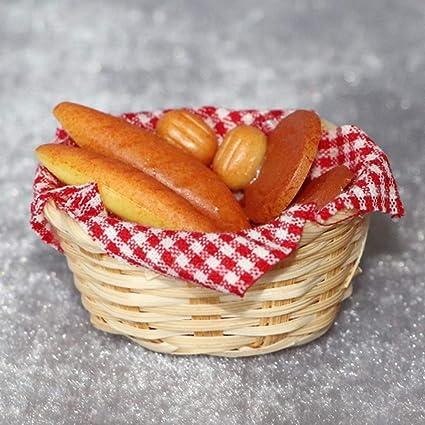 1:12 Dollhouse Miniature Bread Basket Simulation Food Kitchen Toy Decor /_A