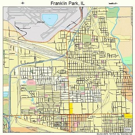 Franklin Park Illinois Map.Amazon Com Large Street Road Map Of Franklin Park Illinois Il