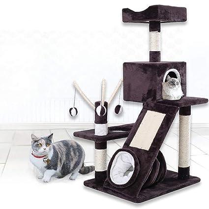 Amazon.com: GAOJIN6868 - Torre para gatos con doble ...