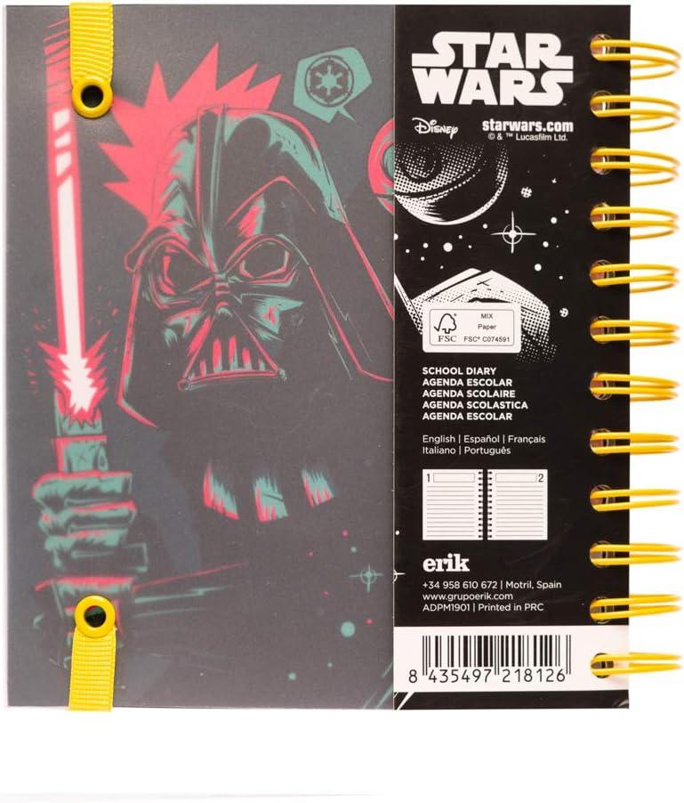 Agenda escolar 2019/2020 día página M Star Wars: Amazon.es ...
