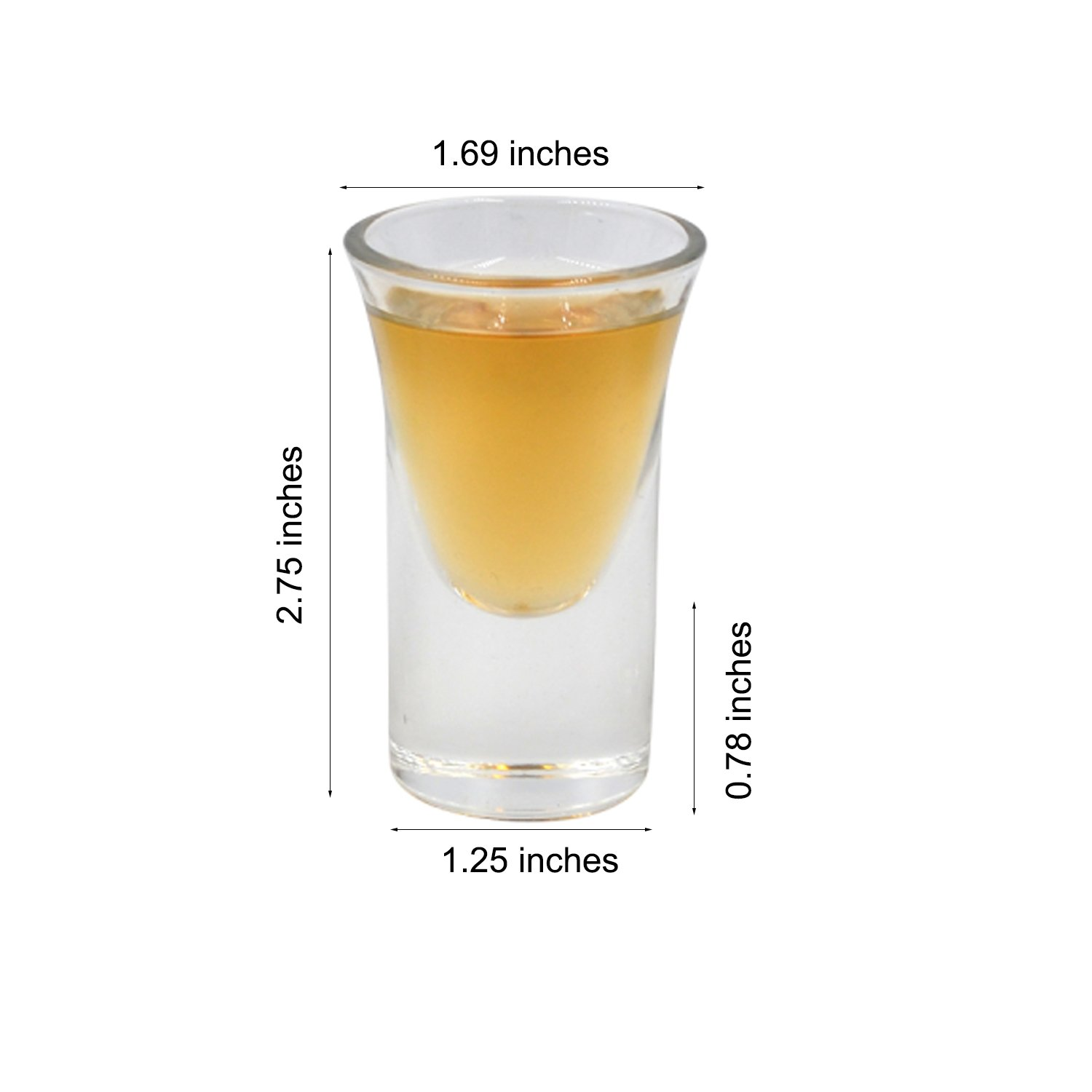 D/&Z 6 Set Shot Glass with Acrylic Transparent Cup Holder for Barware,Kitchen Storage Whisky Brandy Vodka Rum and Tequila Shot Set,0.75oz Shot Glass liquor Tray