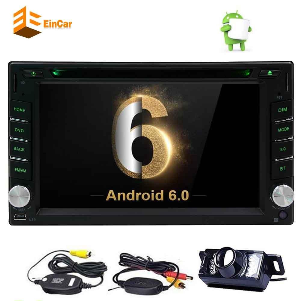 ワイヤレスバックアップカメラ+ EinCarのAndroid 6.2と6.0 OSカーDVDプレーヤー「」ダッシュGPSナビゲーションカーエンターテイメントシステムのサポートAM FMラジオ/ブルートゥース/無線LAN / OBD2 /ミラーリンクでHDタッチスクリーンカーステレオ B077SQW6CF