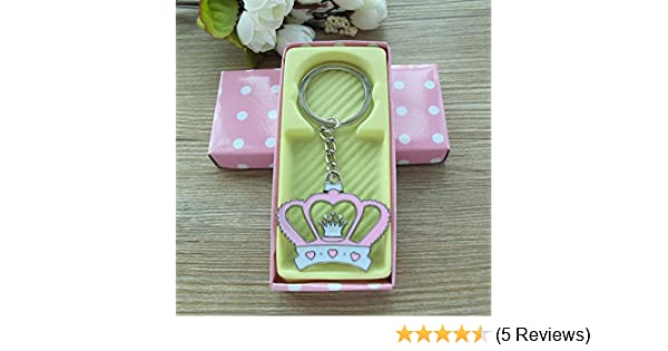 Crown Keychain Baby Shower Favor Pink 12PCS/ Birthday Party Gift for Guest/Corona Llavero/Comes in Pink Box