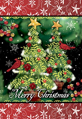 Morigins Merry Christmas Tree Decorative Double Sided Winter