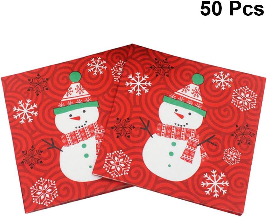 20 Pcs Xmas Tree Napkin Paper Snowflake Party Christmas Serviettes Lunch Dinner