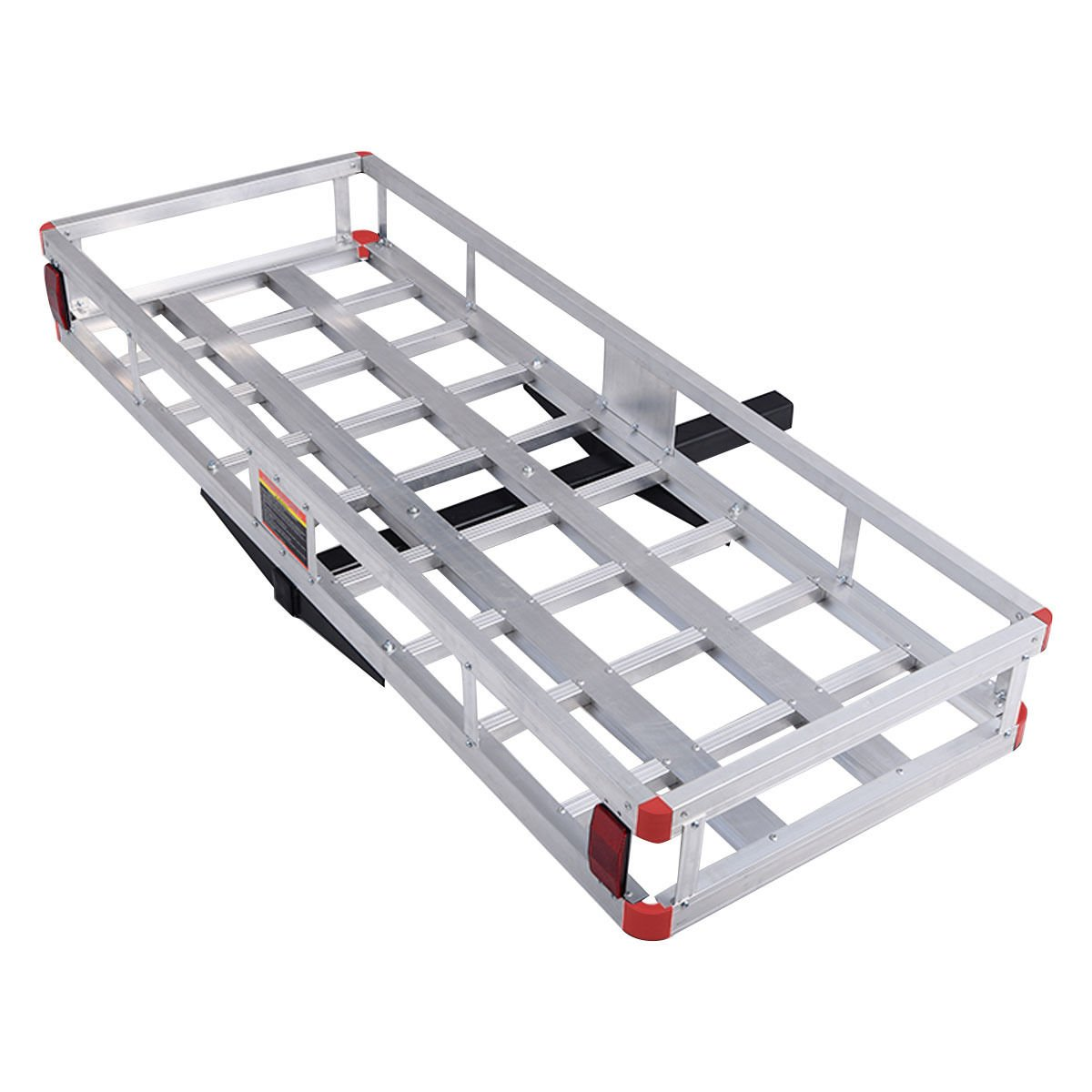 Goplus 60'' x 25'' Aluminum Hitch Mount Cargo Carrier Luggage Basket Rack for SUV, Truck, Car, 500LBS