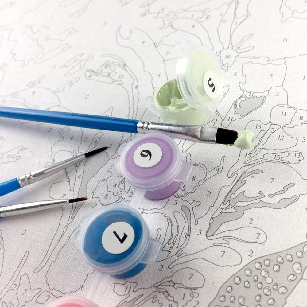 16 20 Pollici Senza Cornice-Foglie Cadute PandaCrafts Dreamsy Paint by Number Kit Pittura a Olio Fai da Te Colorato Disegno Tela con pennelli Decorazioni Regali