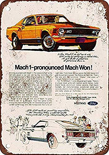 YBCD 1970 Mustang Mach 1 Iron Poster Painting Tin Sign Vintage Wall Decor for Cafe Bar Pub Home